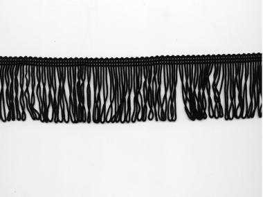Schlingen-Fransenborte schwarz 8547u-05, Breite ca. 5 cm