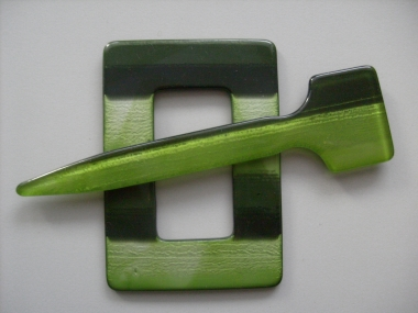Schmuckschließe Nr. DK02173-38, Farbe 38 grün