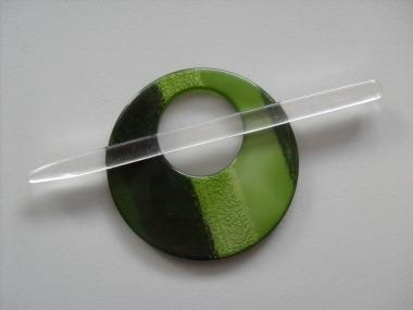 Schmuckschließe rund Nr. DK02211/90-38, Farbe 38 grün
