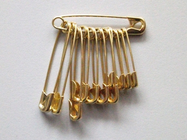 Sicherheitsnadeln Metall goldfarben sortiert Nr. 4363