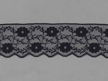 Spitze mit einseitiger Bogenkante Nr. 70623-9000, Farbe 9000 schwarz