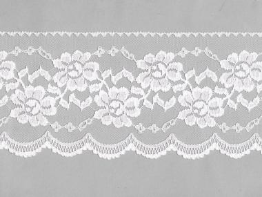 Spitze mit einseitiger Bogenkante Nr. EM-6501130-100, Farbe 100 weiß