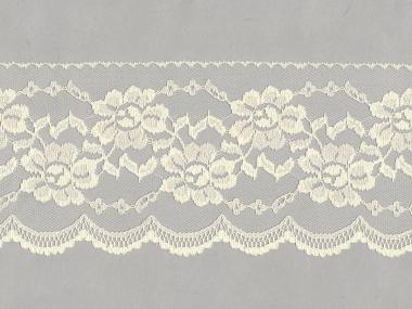 Spitze mit einseitiger Bogenkante Nr. EM-6501130-200, Farbe 200 creme