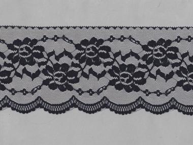 Spitze mit einseitiger Bogenkante Nr. EM-6501130-990, Farbe 990 schwarz
