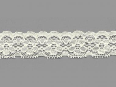 Elastische Spitze Nr. 70636-1100, Farbe 1100 creme