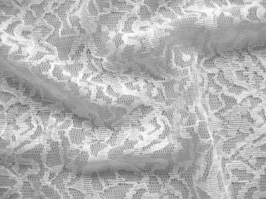 Edler Spitzenstoff 493293 in weiß, gemustert
