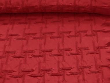 Couture-Stoff mit elastischer Raffung Nr. 99-025-A in dunkelrot