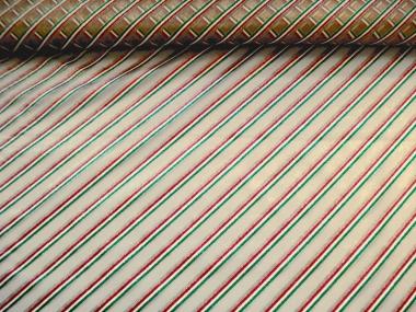 Weihnachtsorganza L8113-210 gold mit Glitterstreifen diagonal