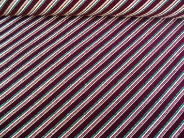 Weihnachtsdekostoff L8113-102 bordeaux mit Glitterstreifen diagonal