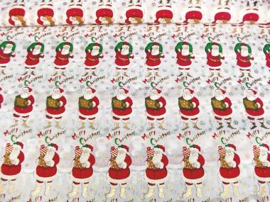 Weihnachtsdekostoff L8113-120 mit Weihnachtsmännern