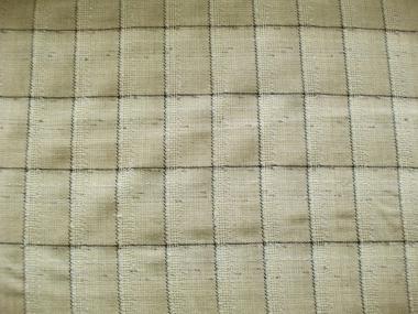 Grober Woll-Karostoff 473008 in natur-wollweiß-schwarz