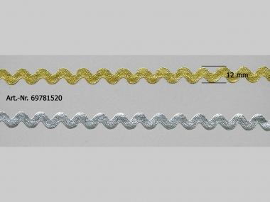 Lurex-Zackenlitze fein 69781520, Breite ca. 6 mm