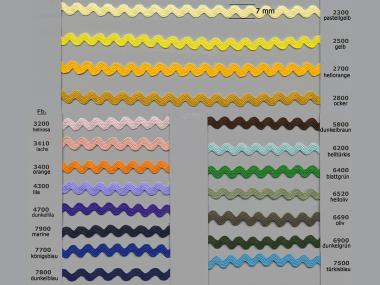 Zackenlitze 33034-7800, Breite 4 mm, Farbe 7800 dunkelblau