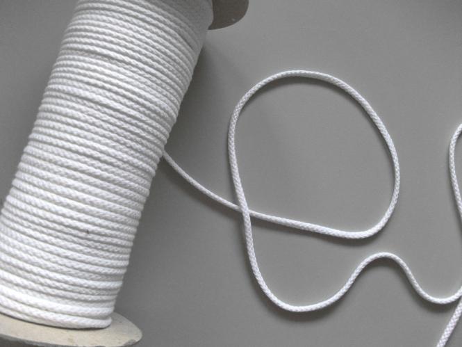 Baumwollkordel geflochten Nr. 6978172-02, Farbe 02 weiß