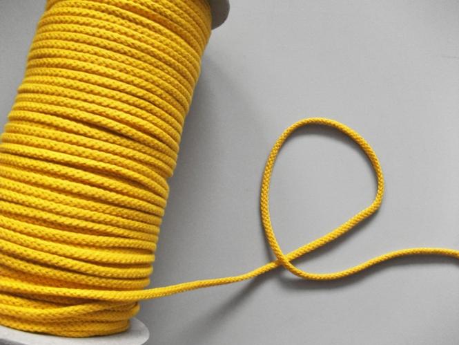 Baumwollkordel geflochten Nr. 6978172-04, Farbe 04 gelb