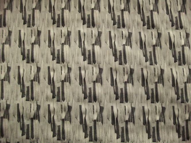 Baumwollstoff Stretch 473848 gemustert in sand-schwarz