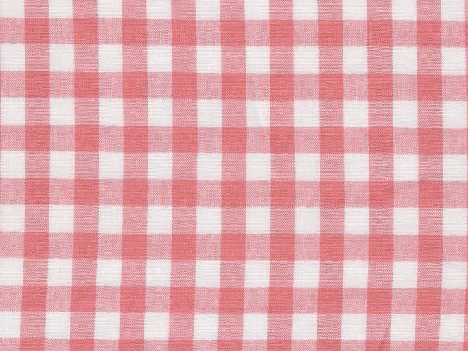 Baumwollstoff Vichykaro RS0138-112 - 1 cm - Farbe rosa