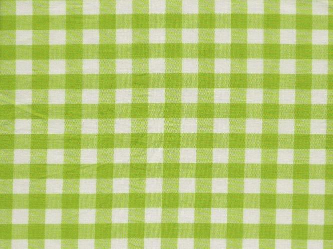 Baumwollstoff Vichykaro RS0138-123 - 1 cm - Farbe lime