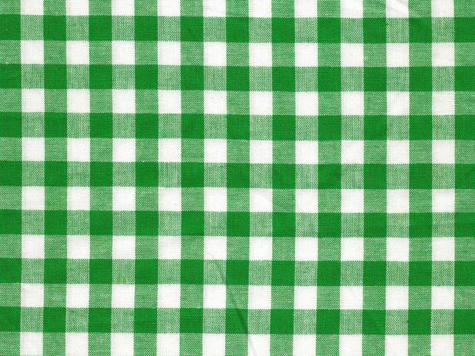 Baumwollstoff Vichykaro RS0138-125 - 1 cm - Farbe grün