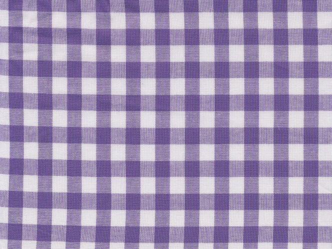 Baumwollstoff Vichykaro RS0138-146 - 1 cm - Farbe lila