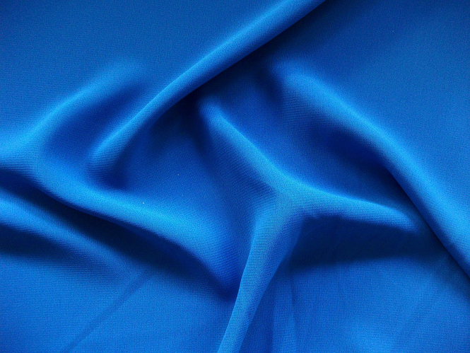 Chiffon uni L735-09, Farbe 09 königsblau