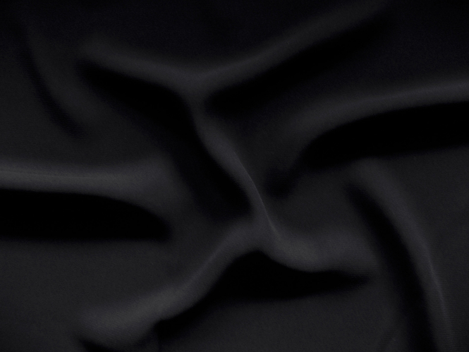 Chiffon uni L735-22, Farbe 22 schwarz