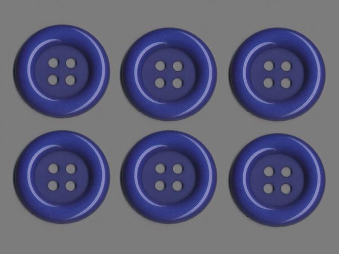 Clowns-Knöpfe 10115107-106bl, Farbe blau