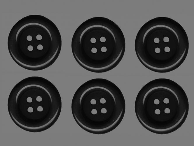 Clowns-Knöpfe 10115107-106sw, Farbe schwarz