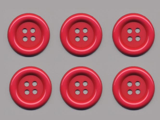 Clowns-Knöpfe 10115091-80fu, Farbe fuchsia