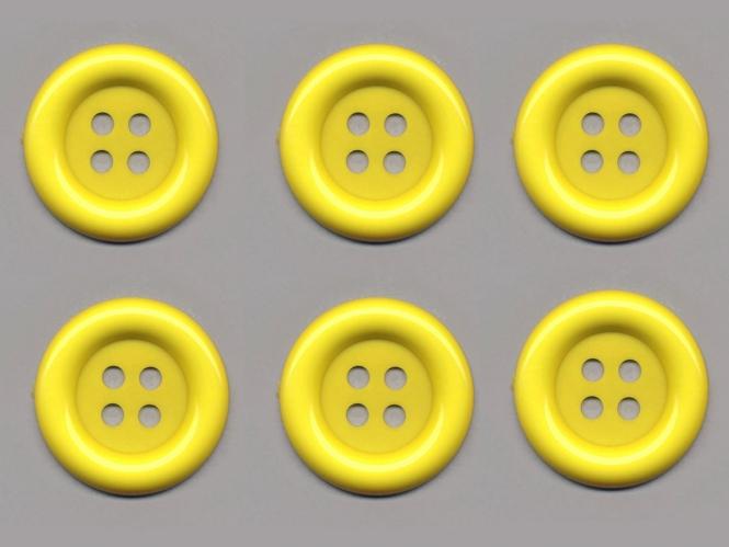 Clowns-Knöpfe 10115091-80ge, Farbe gelb