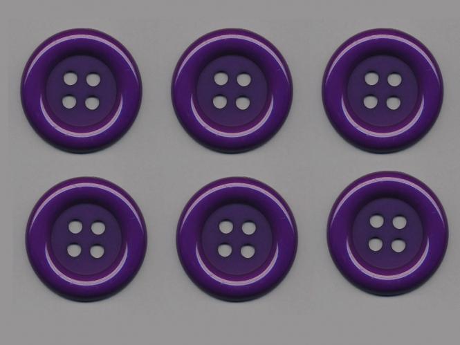 Clowns-Knöpfe 10115091-80li, Farbe lila