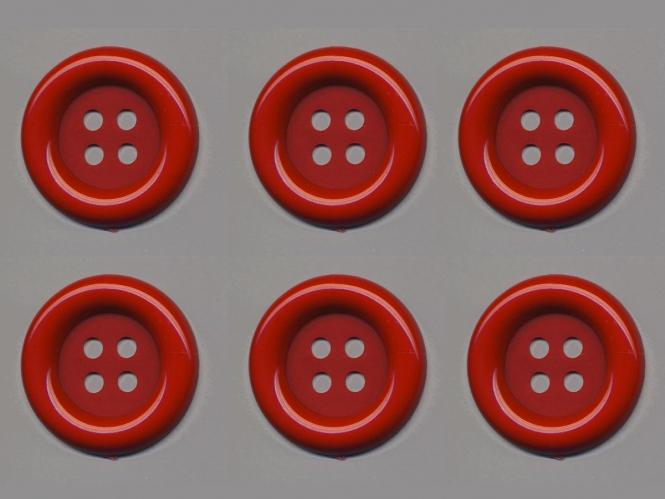 Clowns-Knöpfe 10115091-80rt, Farbe rot