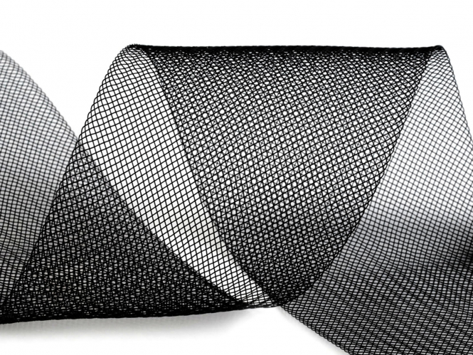 Crinoline Versteifungsband fest S750348-02, Breite 10 cm, Farbe 02 schwarz