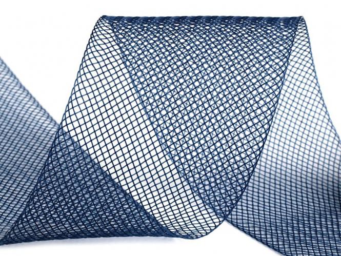 Crinoline Versteifungsband fest S750344-06, Breite 5 cm, Farbe 06 dunkelblau
