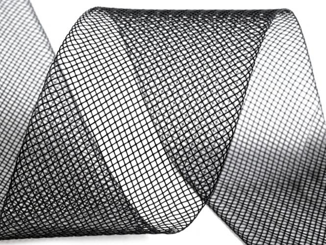 Crinoline Versteifungsband fest S750344-01, Breite 5 cm, Farbe 07 schwarz