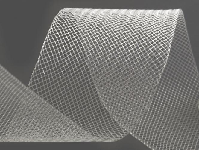 Crinoline Versteifungsband fest S750344-33, Breite 5 cm, Farbe 33 transparent