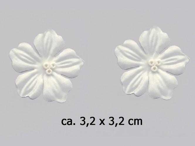 Dekorblume mit Glasperlen Nr. 91489c, Farbe creme