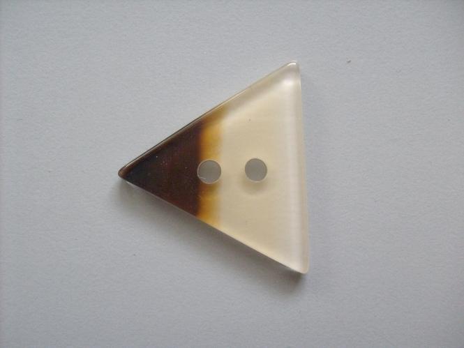 Dreiecksknopf Nr. DK02171/54-02, Farbe 02 braun-weiß