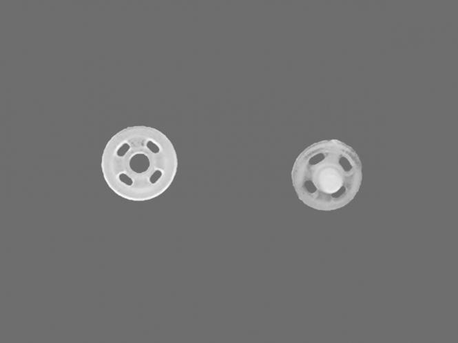 Druckknopf Plastik transparent Nr. 381100-7, Größe 1/2