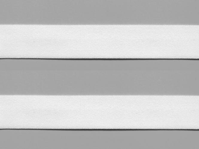 Elastikband - Sport-Gummiband weich Nr. 7100-30w, Farbe weiß