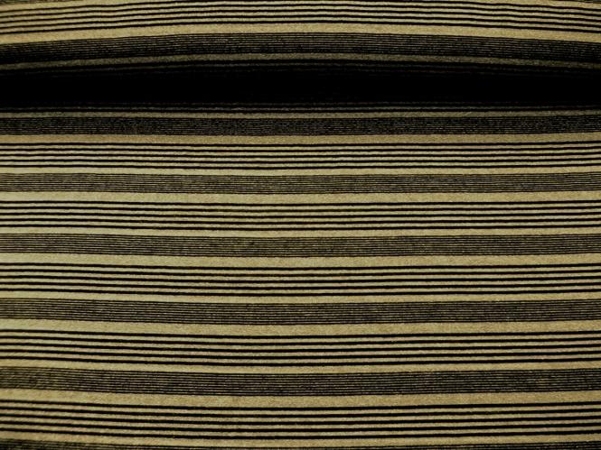 Feinstrick G68254 mit Quersteifen in schwarz und Lurex gold