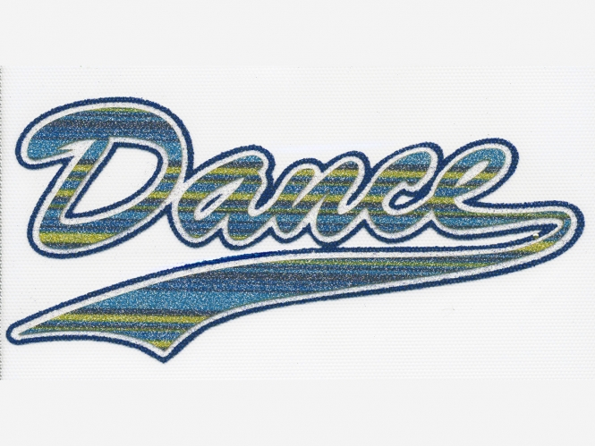 Glitter-Bügelmotiv NS073B - Dance blue