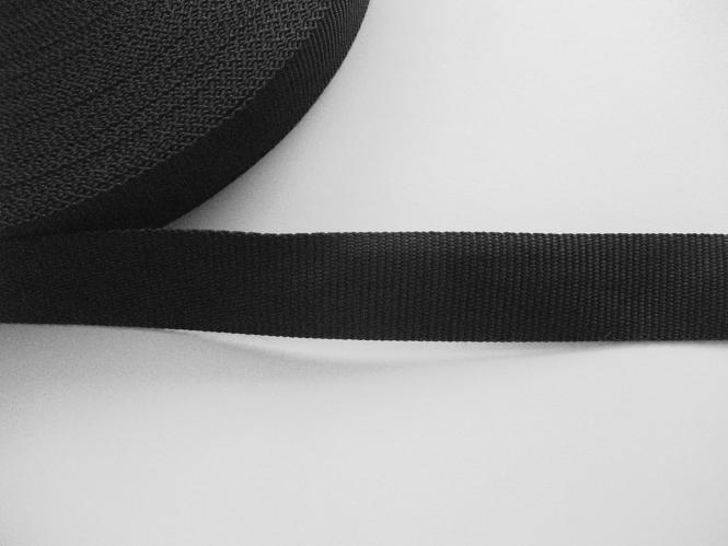 Gurtband 0649-30 schwarz, Stärke ca. 1,5 mm, Breite ca. 30 mm
