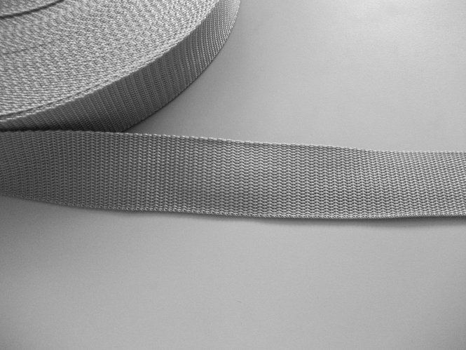 Gurtband 357254-40 silbergrau, Stärke ca. 1,8 mm, Breite ca. 40 mm