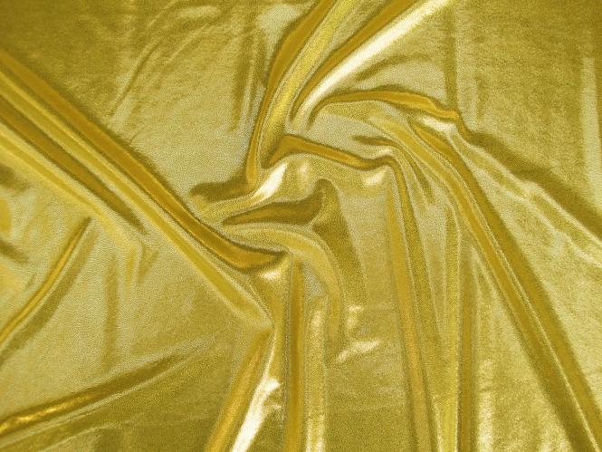 Metallic-Jersey hochglänzend 60909-g in gold