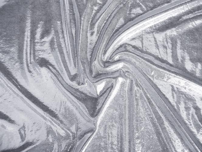 Metallic-Jersey hochglänzend 60909-s in silber