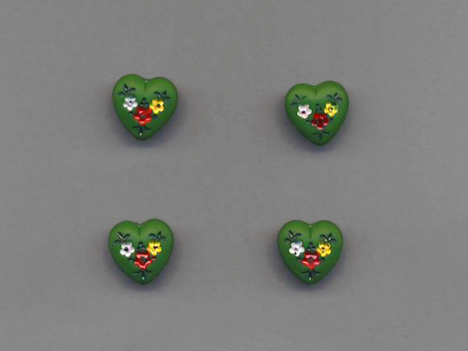 Jim Knopf Glasherz Nr. 12192-01, Farbe 01 grün