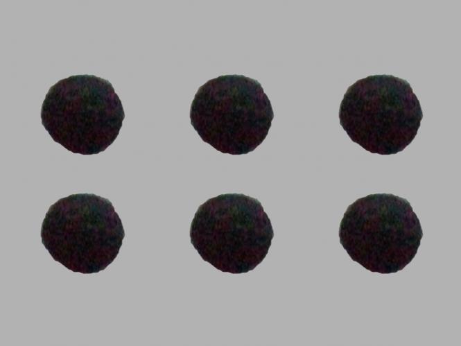 Jim Knopf Filzkugel Nr. 11811-01, Farbe 01 schwarz