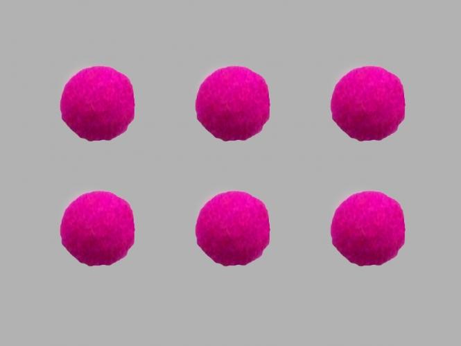 Jim Knopf Filzkugel Nr. 11811-07, Farbe 07 pink