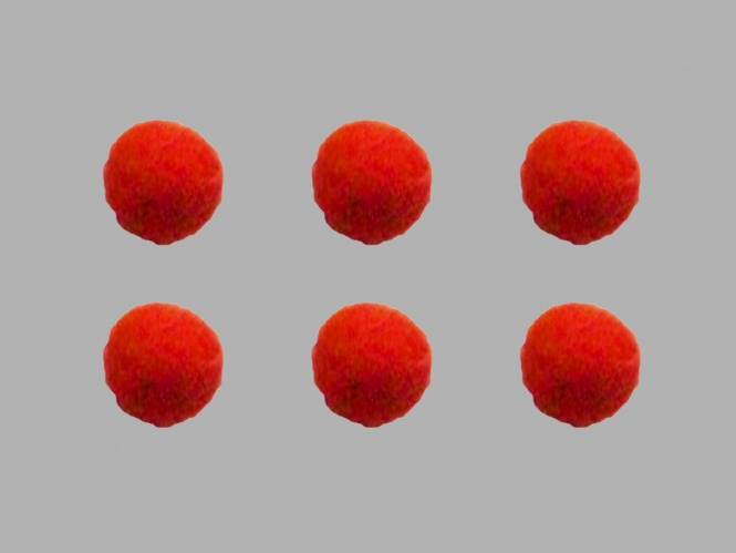 Jim Knopf Filzkugel Nr. 11811-08, Farbe 08 orange